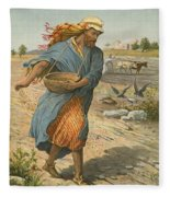 The Sower Sowing The Seed Fleece Blanket