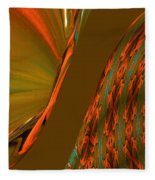 The Space Between Two Forces Abstract Fleece Blanket