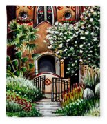 The Spanish Gardens Fleece Blanket