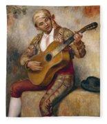The Spanish Guitarist Fleece Blanket