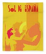 The Spanish Sun  Fleece Blanket