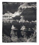 The Spectacular Grand Canyon Bw Fleece Blanket