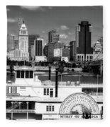 The Spirit Of America And Cincinnati  Fleece Blanket