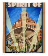 The Spirit Of Asheville Fleece Blanket