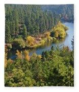 The Spokane River  Fleece Blanket