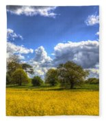 The Springtime Farm Fleece Blanket