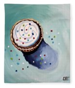 The Sprinkled Cupcake Fleece Blanket