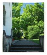 the stairs behind the Gottstatt Monastery church Fleece Blanket