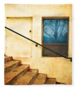 The Stairway Of Reflections Fleece Blanket