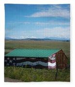 The Star Spangled Barn Fleece Blanket