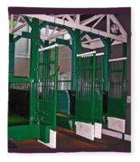 The Starting Gate Display In The Kentucky Derby Museum Fleece Blanket