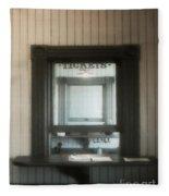The Stationmaster's Window Fleece Blanket
