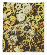 The Steampunk Heart Design Fleece Blanket