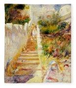 The Steps In Algiers Fleece Blanket
