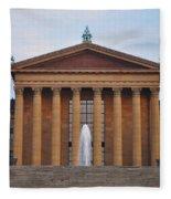 The Steps Of The Philadelphia Museum Of Art Fleece Blanket