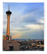 The Stratosphere In Las Vegas Fleece Blanket