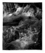 The Stream In Bw Fleece Blanket