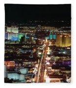 The Strip At Las Vegas,nevada Fleece Blanket