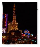 The Strip At Night 1 Fleece Blanket