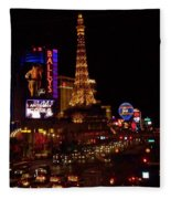 The Strip At Night 2 Fleece Blanket