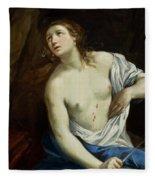 The Suicide Of Lucretia 1640 Fleece Blanket