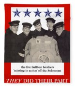 The Sullivan Brothers - They Did Their Part Fleece Blanket