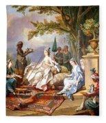 The Sultana Served By Her Eunuchs Fleece Blanket