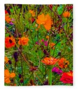 The Summer Flower Party Fleece Blanket
