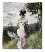 The Summer Stroll Fleece Blanket
