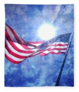 The Sun And The Flag Fleece Blanket