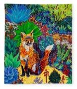 The Sun Fox Fleece Blanket