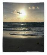 The Sun Is Rising Over The Ocean Fleece Blanket