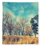 The Sunday Trees Fleece Blanket