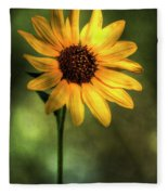 The Sunflower  Fleece Blanket