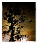 The Sunset Tree Fleece Blanket