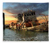 The Sunset Years Of The Mary D. Hume Fleece Blanket