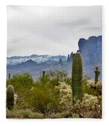 The Superstitions  Landscape Fleece Blanket