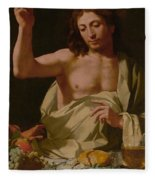 The Supper At Emmaus-detail Fleece Blanket