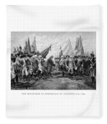 The Surrender Of Cornwallis At Yorktown Fleece Blanket