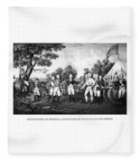 The Surrender Of General Burgoyne Fleece Blanket