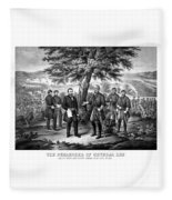 The Surrender Of General Lee  Fleece Blanket