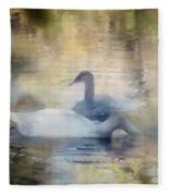 The Swans Fleece Blanket