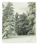 The Sweep Of Snow Fleece Blanket