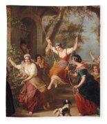 The Swing, 1848 Fleece Blanket