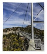 The Swinging Bridge Of Grandfather Mountain Fleece Blanket