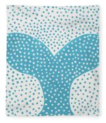 The Tail Of The Dotted Whale Fleece Blanket
