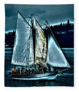 The Tall Ship Lavengro Fleece Blanket
