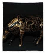The Tattooed Cow Fleece Blanket