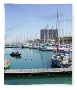 The Tel Aviv Marina  Fleece Blanket