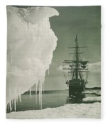 The Terra Nova At The Ice Foot Cape Evans Fleece Blanket
